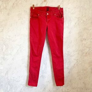 Tripp NYC Red T back Skinny Jeans Low Rise 11/ 10